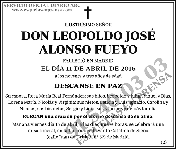 Leopoldo José Alonso Fueyo